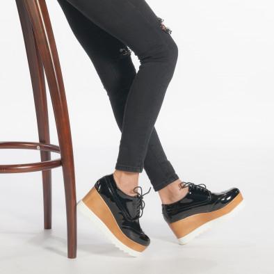 Γυναικεία μαύρα παπουτσια με πλατφορμα Tulipano it240118-33 2 ... 87fde2eecba