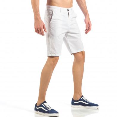 Ανδρική λευκή βερμούδα απλό μοντέλο it260318-124 3