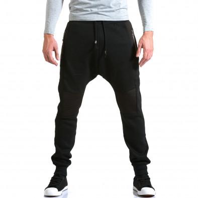 Ανδρικό μαύρο παντελόνι jogger New Star it211015-57 2