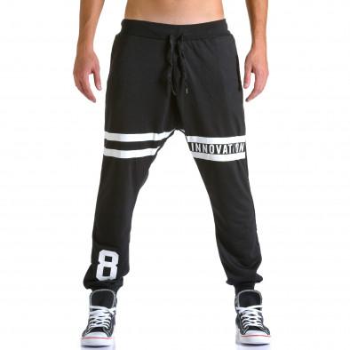 Ανδρικό μαύρο παντελόνι jogger Eadae Wear ca260815-30 2