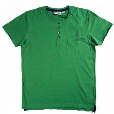Ανδρική πράσινη κοντομάνικη μπλούζα Marcus 070213-16 2