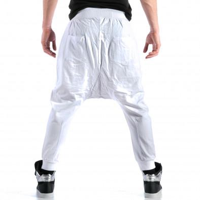 Ανδρικό λευκό παντελόνι jogger Bruno Leoni ca110215-15 3