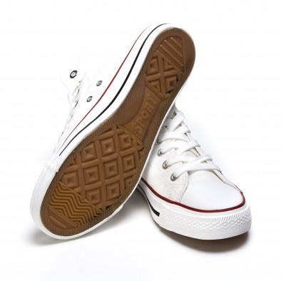 Ανδρικά λευκά sneakers Dilen it170315-9 4