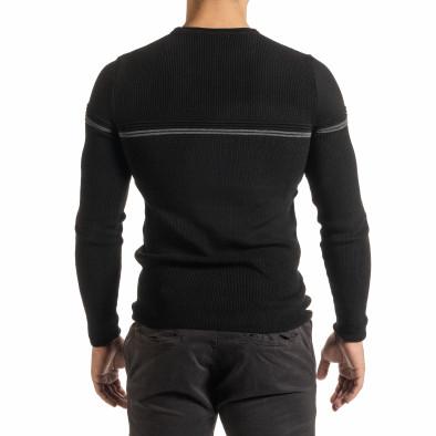 Ανδρικό μαύρο πουλόβερ it301020-14 3