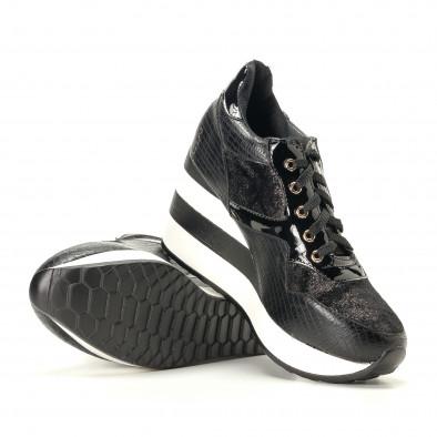 Γυναικεία μαύρα αθλητικά παπούτσια Sergio Todzi it200917-29 4