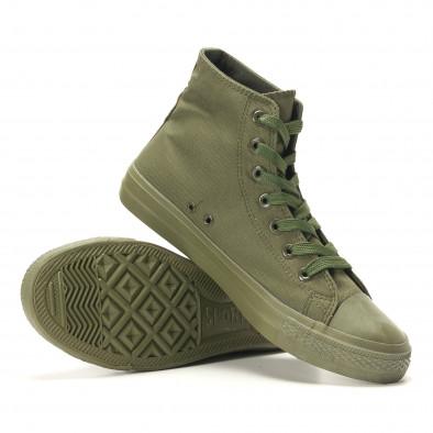 Ανδρικά πράσινα sneakers Osly iv220420-3 4