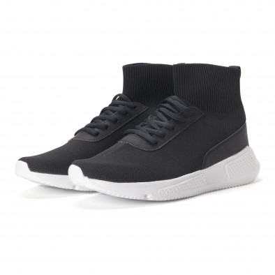 Ανδρικά μαύρα αθλητικά παπούτσια κάλτσα it020618-17 3