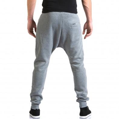 Ανδρικό γκρι παντελόνι jogger New Star it211015-56 3