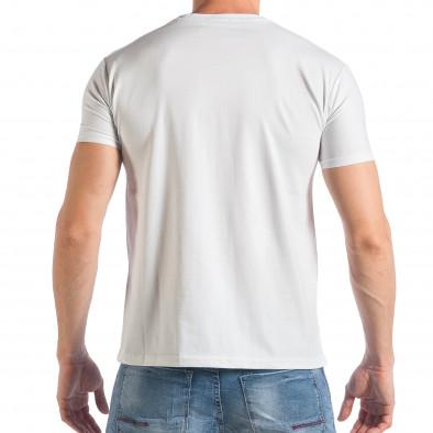 Ανδρική λευκή κοντομάνικη μπλούζα Frank Martin tsf290318-9 3