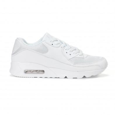 Ανδρικά λευκά αθλητικά παπούτσια με σόλες αέρα it160318-2 2