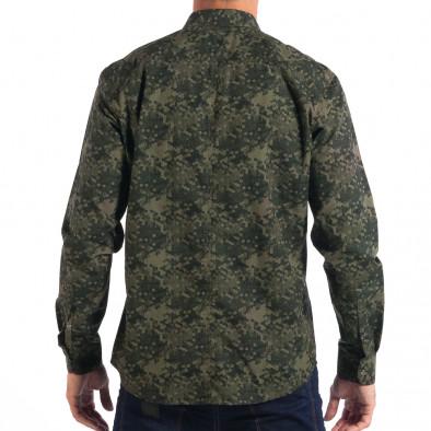 Ανδρικό πράσινο πουκάμισο παραλλαγής lp070818-118 3