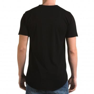 Ανδρική μαύρη κοντομάνικη μπλούζα Man it090216-71 3
