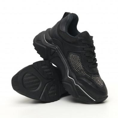 Γυναικεία μαύρα sneakers Seribo tr180320-17 4