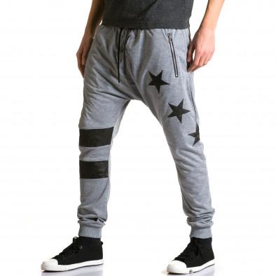 Ανδρικό γκρι παντελόνι jogger Jack Davis ca190116-20 4
