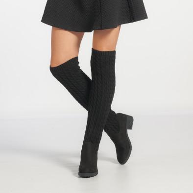 0f98c549efb Γυναικεία μαύρα μπότες πάνω από το γόνατο Diamantique it251017-2 2 ...