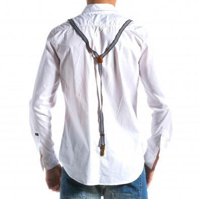 Ανδρικό λευκό πουκάμισο Bread & Buttons tsf100214-9 3