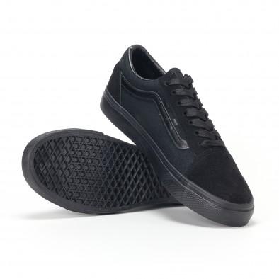 Ανδρικά μαύρα υφασμάτινα sneakers Old Skool it160318-25 5