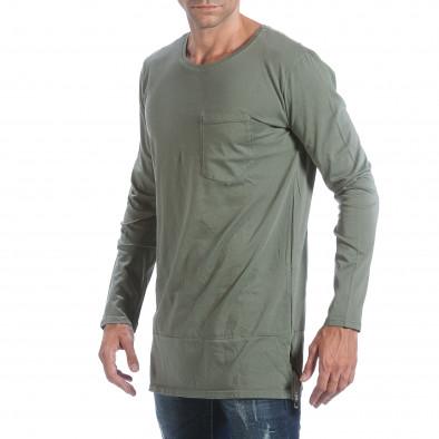 Ανδρική πράσινη μπλούζα MM Studio it160817-84 4