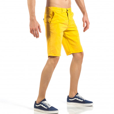 Ανδρική κίτρινη βερμούδα με ιταλικές τσέπες it260318-139 4