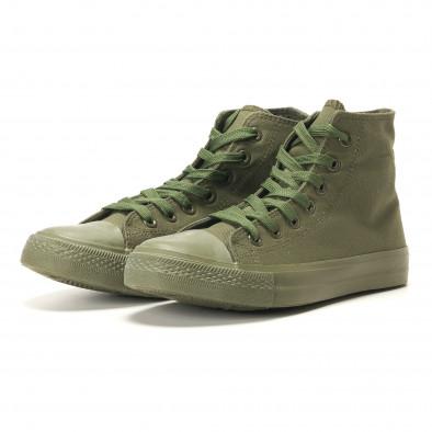 Ανδρικά πράσινα sneakers Osly iv220420-3 3