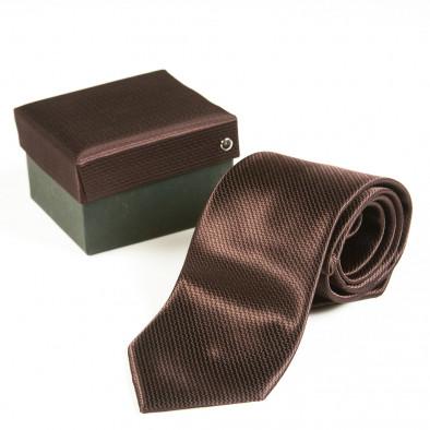 Ανδρική καφέ γραβάτα Fashionmix 080213-19 2