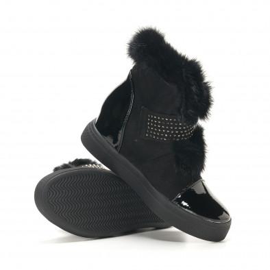Γυναικεία μαύρα μποτάκια Fashion & Bella it291117-5 4