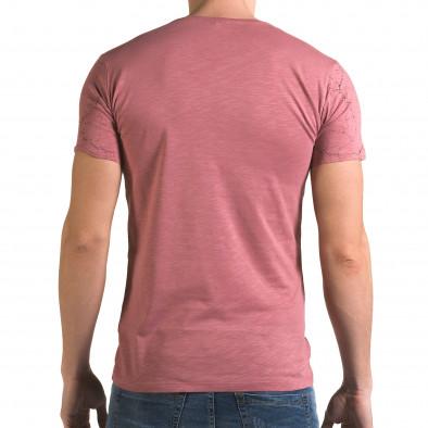 Ανδρική ροζ κοντομάνικη μπλούζα Lagos il120216-6 3