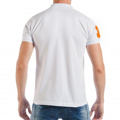 Ανδρική λευκή πόλο με το νούμερο 32 tsf250518-42 3