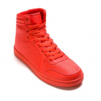 Ανδρικά κόκκινα sneakers Niadi it211015-2 3