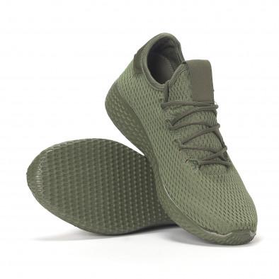 Ανδρικά πράσινα ελαφριά αθλητικά παπούτσια All-green it240418-7 4