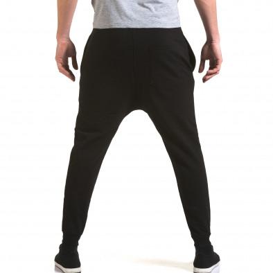 Ανδρικό μαύρο παντελόνι jogger G.Victory it090216-61 3