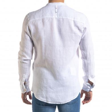 Ανδρικό λευκό πουκάμισο RNT23 tr110320-90 4