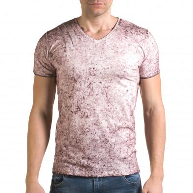 Ανδρική ροζ κοντομάνικη μπλούζα Lagos il120216-18 2