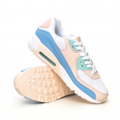 Γυναικεία αθλητικά παπούτσια με αερόσολα σε απαλά χρώματα it051219-12 4