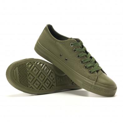 Ανδρικά πράσινα sneakers Osly it260117-33 4