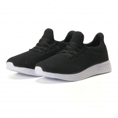Ανδρικά μαύρα αθλητικά παπούτσια Naban it100317-7 2