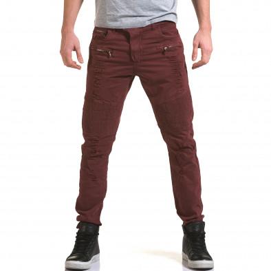 Ανδρικό κόκκινο παντελόνι Maximal it090216-9 2