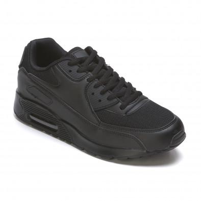Ανδρικά μαύρα αθλητικά παπούτσια Fast Lee It050216-7 3