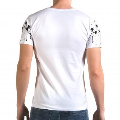 Ανδρική λευκή κοντομάνικη μπλούζα Lagos il120216-40 3