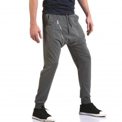 Ανδρικό γκρι παντελόνι jogger Belmode it090216-45 4