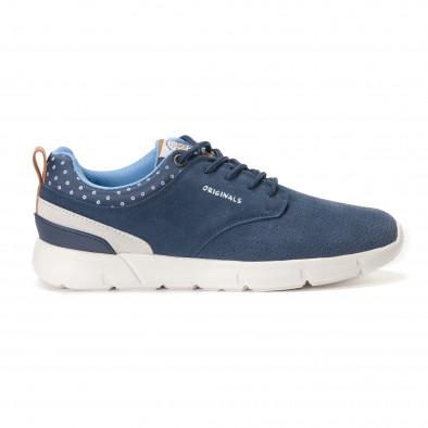 Ανδρικά γαλάζια αθλητικά παπούτσια Montefiori it250118-22 3