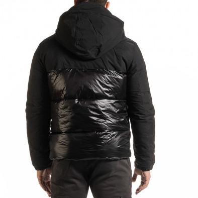 Ανδρικό μαύρο χειμωνιάτικο μπουφάν Duca Homme it301020-8 4