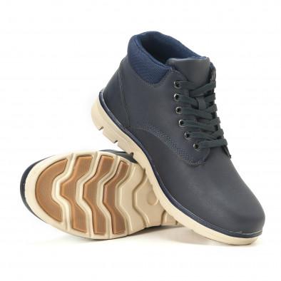 Ανδρικά γαλάζια sneakers Situo it251017-56 4