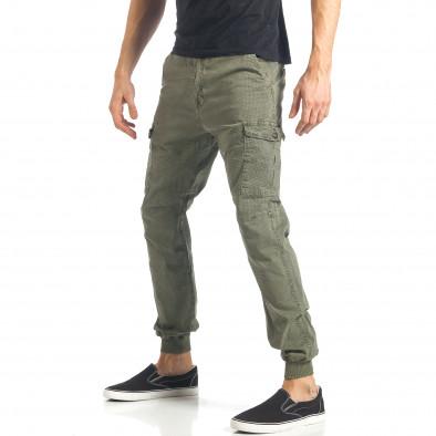 Ανδρικό πράσινο παντελόνι XZX-Star it290118-26 3