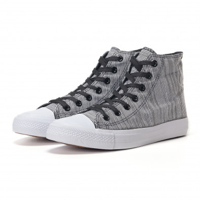 Ανδρικά μαύρα sneakers Mondo Naturale it250118-12 2