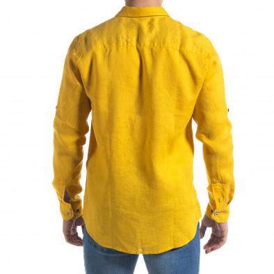 Ανδρικό κίτρινο πουκάμισο RNT23 tr110320-95 3