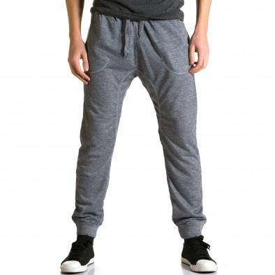 Ανδρικό γκρι παντελόνι jogger Dress & GO ca190116-28 2
