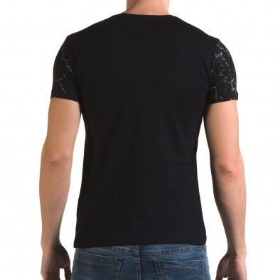 Ανδρική γαλάζια κοντομάνικη μπλούζα Lagos il120216-5 3