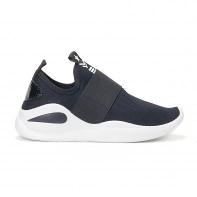 Ανδρικά μαύρα αθλητικά slip-on κάλτσα με διακοσμητικό λάστιχο it160318-33 2