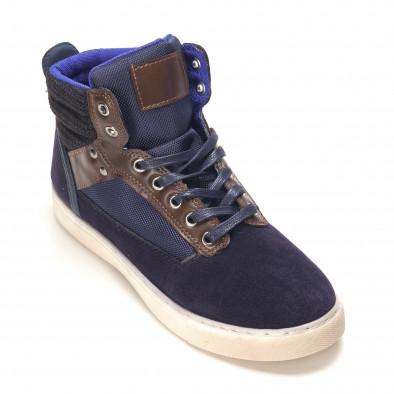 Ανδρικά γαλάζια sneakers Reeca it100915-21 3